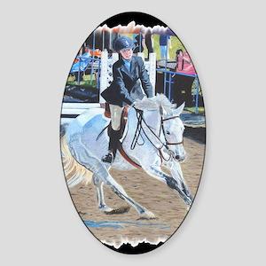 horseshow_tape Sticker (Oval)