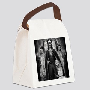 dracula and his ladies square Canvas Lunch Bag