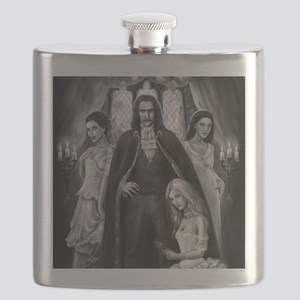 dracula and his ladies square Flask