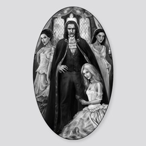 dracula and his ladies Sticker (Oval)