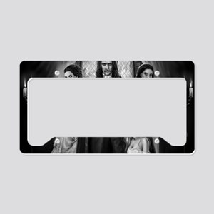 dracula and his ladies wide License Plate Holder