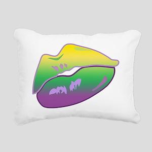 KissForBeadsLipsTR Rectangular Canvas Pillow