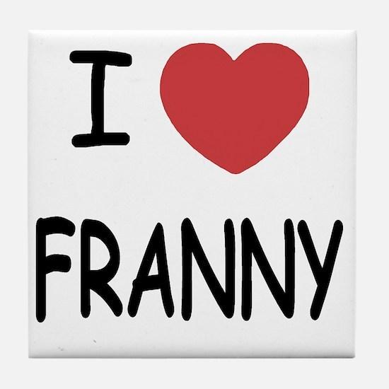 FRANNY Tile Coaster