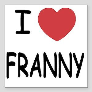 "FRANNY Square Car Magnet 3"" x 3"""