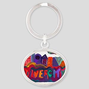 DIVERCITY Oval Keychain