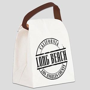 Long Beach Title W Canvas Lunch Bag