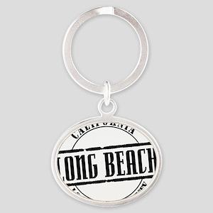 Long Beach Title W Oval Keychain