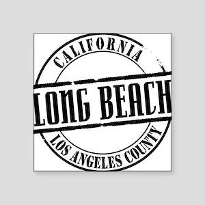 "Long Beach Title W Square Sticker 3"" x 3"""