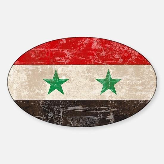 VintageSyria3 Sticker (Oval)