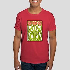 Art Nouveau Tulips -- Dark T-Shirt