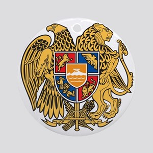 Armenia Coat of Arms Round Ornament
