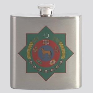 Turkmenistan Coat of Arms Flask