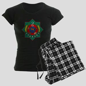 Turkmenistan Coat of Arms Women's Dark Pajamas