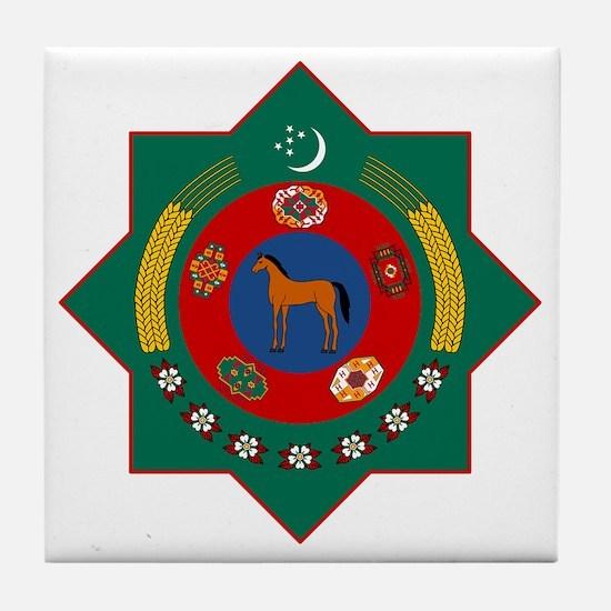 Turkmenistan Coat of Arms Tile Coaster