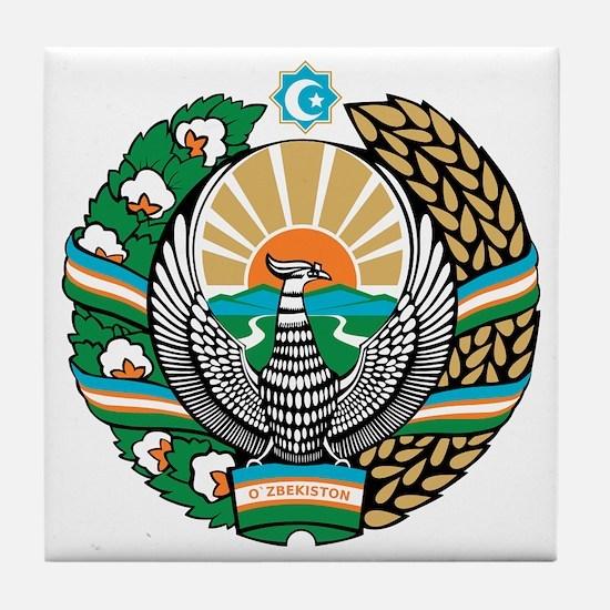 Uzbekistan Coat of Arms Tile Coaster