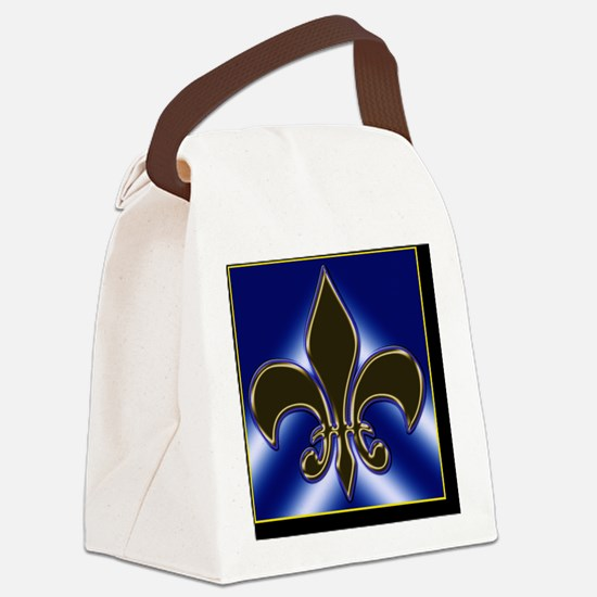 Fleur-de-lis Canvas Lunch Bag