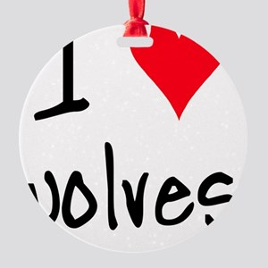 iheartwolves Round Ornament