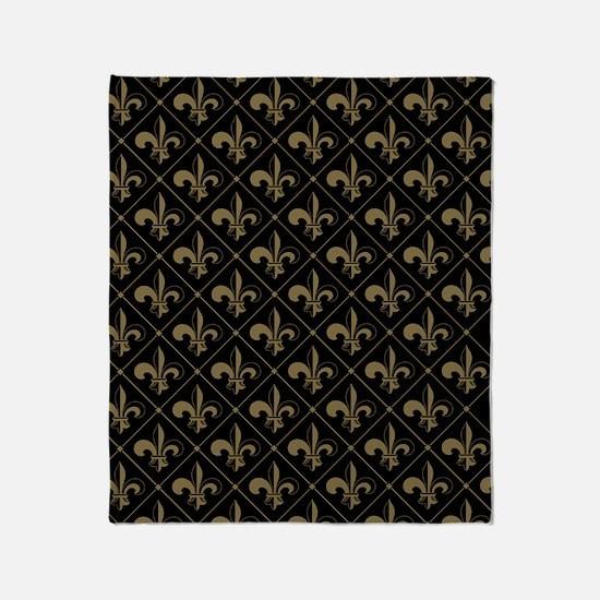 FleurDeLis_Pattern-3 Throw Blanket