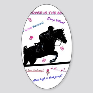ilovehorsespastels Sticker (Oval)