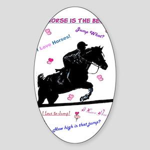ilovehorsespastelssleeves Sticker (Oval)