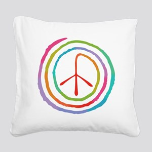 spiral-peace2-T Square Canvas Pillow