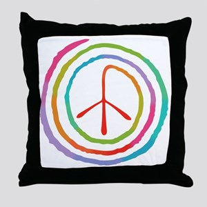 spiral-peace2-T Throw Pillow