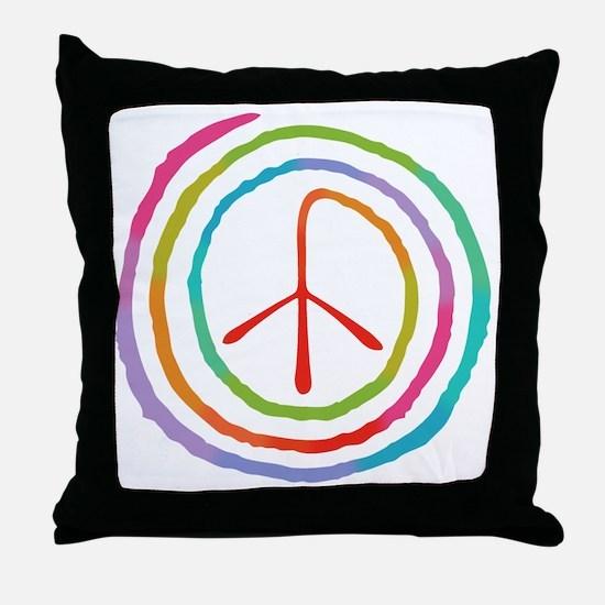 spiral-peace2-T Throw Pillow