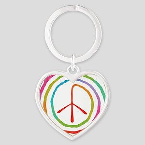 spiral-peace2-T Heart Keychain