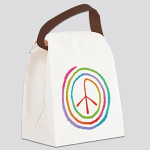 spiral-peace2-T Canvas Lunch Bag