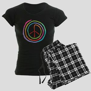 spiral-peace2-T Women's Dark Pajamas