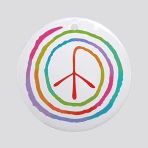 spiral-peace2-T Round Ornament