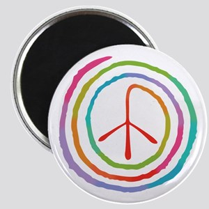 spiral-peace2-T Magnet