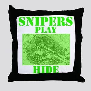 Art_Snipers play hide green2 Throw Pillow