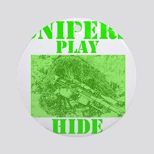 Art_Snipers play hide green2 Round Ornament