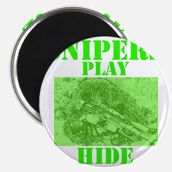 Art_Snipers play hide green2 Magnet