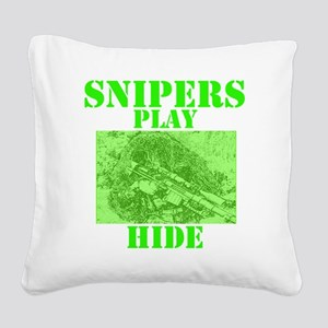 Art_Snipers play hide green2 Square Canvas Pillow