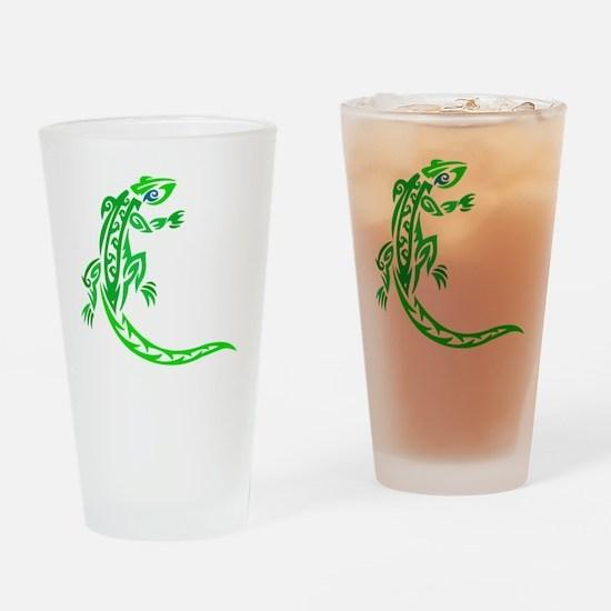 lizard_1 green 7x8 right Drinking Glass