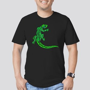 lizard_1 green 7x8 rig Men's Fitted T-Shirt (dark)