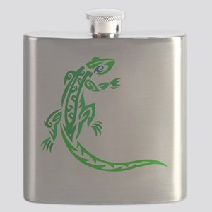 lizard_1 green 7x8 right Flask