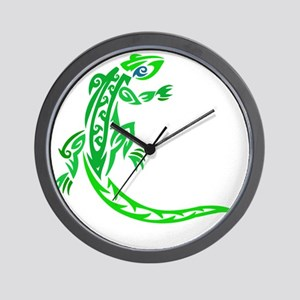 lizard_1 green 7x8 right Wall Clock
