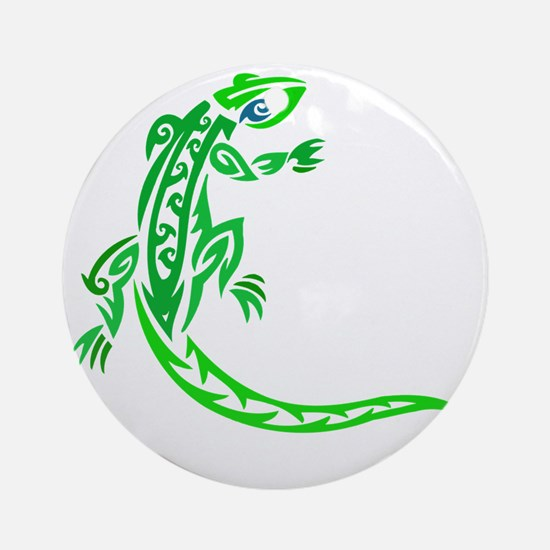 lizard_1 green 7x8 right Round Ornament