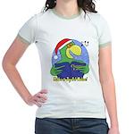 Joyful Noise Christmas Parrot Jr. Ringer T-Shirt