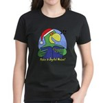 Joyful Noise Christmas Parrot Women's Dark T-Shirt