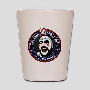 Captain Spaulding for President Shot Glass