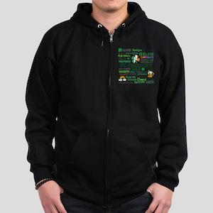 St Patricks Zip Hoodie (dark)