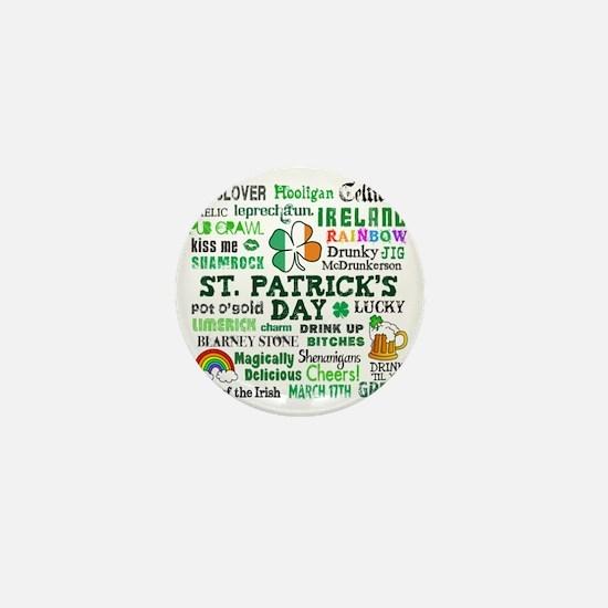 St Patricks Mini Button