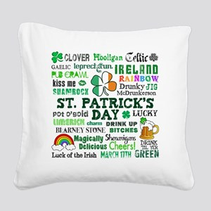 St Patricks Square Canvas Pillow