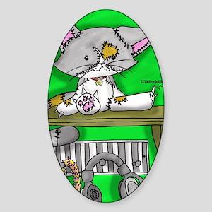 Stitch Kitten Sticker (Oval)