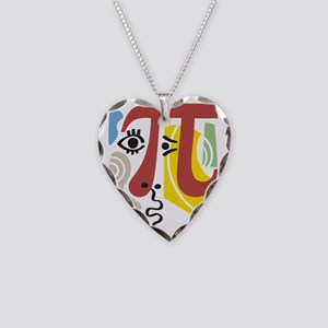 Pi Symbol Pi-Casso Necklace Heart Charm