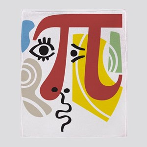 Pi Symbol Pi-Casso Throw Blanket
